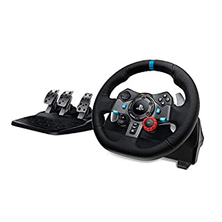 Logitech G29 Driving Force Racing Wheel and Floor Pedals, Real Force Feedback, Stainless Steel Paddle Shifters, Leather Steering Wheel Cover, Adjustable Floor Pedals, UK-Plug, PS4/PS3/PC/Mac - Black (B00YUOVBZK) | Amazon price tracker / tracking, Amazon price history charts, Amazon price watches, Amazon price drop alerts