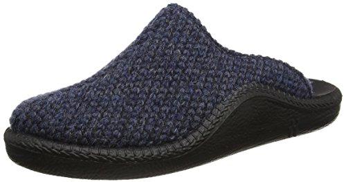 Pantofole Da Uomo Romaka Mocasso 233 Blu (blu-combi 501 501)