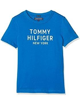 Tommy Hilfiger Essential Big Logo Tee S/S, Camiseta para Niños