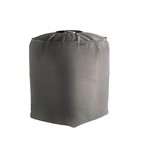 GREEN CLUB Housse De Protection imperméable Bouteille de gaz Haute Qualité Polyester doublée PVC L 36 x l 36 x h 50 cm Couleur Anthracite