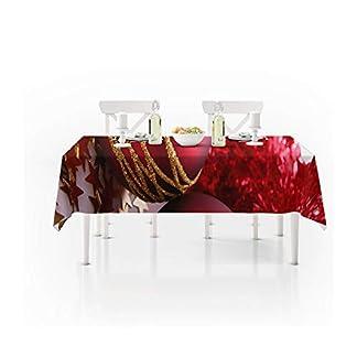 LHR888 Manteles, Sala de Estar Decoración Paño Mesa de Centro Paño Vacaciones Navidad Bola Impermeable Poliéster Mantel (Size : 140 * 140)