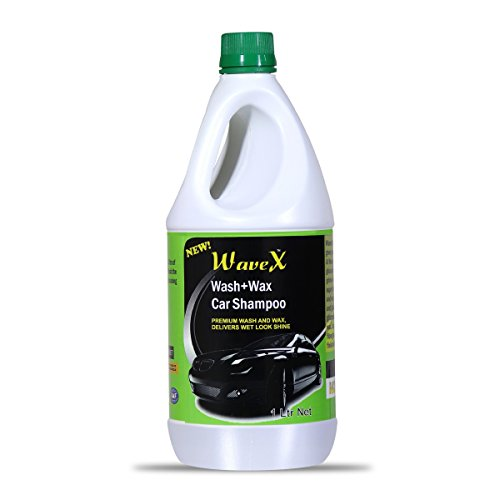 Wavex® Wash and Wax Car Shampoo 1 LTR Gives Wet Look Shine, pH Neutral - Leaves No Water Spots