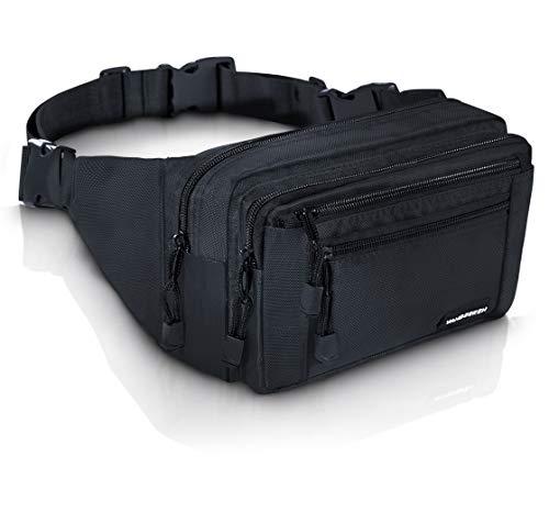 VAN BEEKEN Bauchtasche Hüfttasche Gürteltasche mit Extragurt für Damen und Herren - wasserabweisend und reißfest – Outdoor Gurttasche zum Wandern Reisen Urlaub I Hip Bag, Bauchbeutel