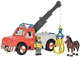 Simba - 109258280002 - Sam Le POMPIER Camion Grue -