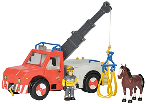 (Simba–109258280002–Feuerwehrmann Sam LKW Kran -)