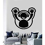QVZXN Adesivo murale Decalcomania del vinile DJ piastra Hands Up Club Party Decor Decorazione della casa Soggiorno Camera da letto Decalcomanie rimovibili 42x45cm