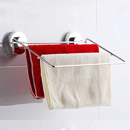 ZXL Saugnapf Bad Bad Edelstahl DREI Stangen Multi-Bar Handtuchhalter Handtuch hängende Stange Lappen hängende Stange - Hängende Handtuch Bar