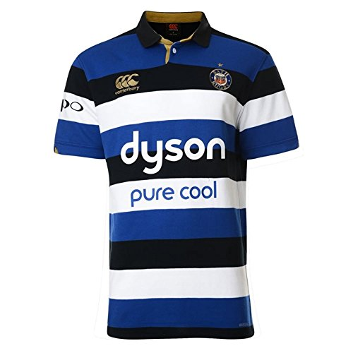 Bath 2016/17 Home S/S Classic Rugby Shirt - Blue/Black/White - size XXL (T-shirt-rugby Classic)