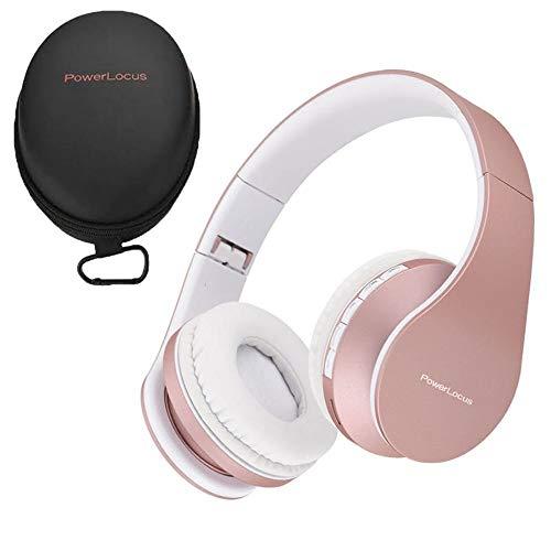 PowerLocus Casque Bluetooth sans Fil, Pliable Casque Audio Stéréo, Oreillette Bluetooth avec Micro Intégré/Micro SD/FM Radio pour Téléphones/PC/Tablettes/TV