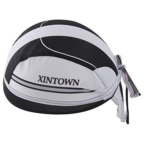 HYSENM Bandana Unisex Schnell-trocken Anti-UV für Radsport Motorrad Kopftuch Cap, Weiß - Helme Mütze Motorrad