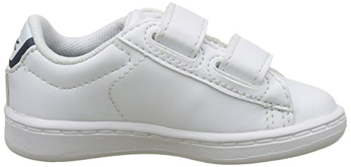 Lacoste Carnaby Evo Bl 1 Spi Wht/Pnk, Basses Mixte Enfant Multicolore (Wht/Nvy)