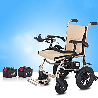 NIGHT WALL Voyager - Ultra Portable Folding Power Wheelchair -Electromagnetic brake standing two-hand brake Airplane Travel Approved (Voyager)