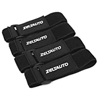 Zeltauto Cable Tie Management Reusable Elastic Fastening Wire Organizer with Buckle (4 Pcs, 1.5 x 16 in)