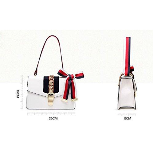 Hochwertige Retro Seide Kette Kette Handtaschen Schulter Messenger Mode Trend Kleine Quadratische Tasche Black