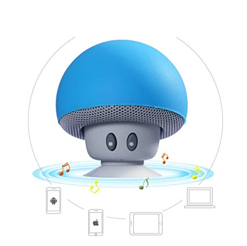 Shot Case - Enceinte Champignon Bluetooth pour ASUS ZenFone Selfie Smartphone Ventouse Haut-Parleur Micro Mini (Couleur Bleu)