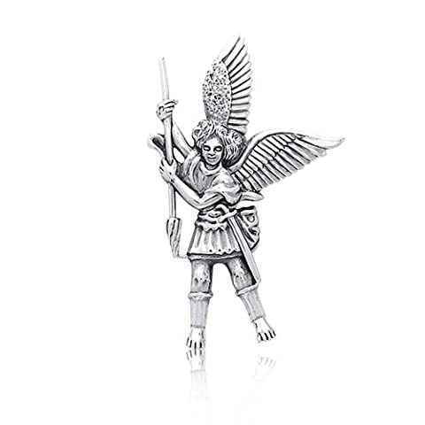 925 Silver Guardian Angel St. Michael the Archangel Pendant