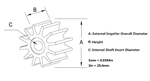 25hp 30hp 40hp 18-8923 345-65021-0 Impeller Fits Nissan//Tohatsu