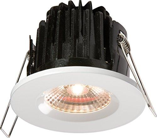 Alu-elektro-platte (ML24 - DIE-CAST Badezimmerleuchte IP65 7 W LED 3000 K Warweiss Unterbauleuchte dimmbar mit weißem Rand)