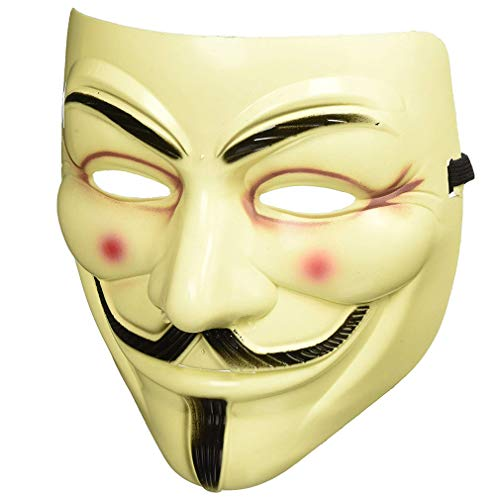 Bongles Party-Masken V für Vendetta-Maske Vollgesichtsmaske Anonymous Guy Fawkes Halloween-Maskerade-Partei-Gesichts ()