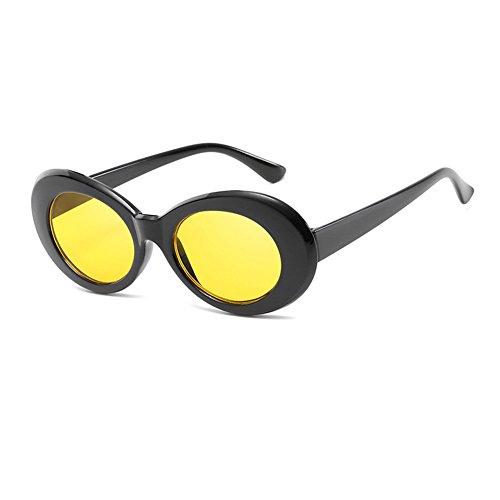 4fe1cb16b5f94d Inlefen Mod Style Lunettes de soleil ovales Hommes Femmes Lunettes de style  rétro