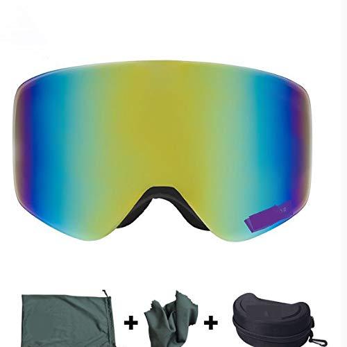 luoshui Skibrille mit Case Double Lens Uv400 Anti-Nebel-Ski-Gläser Skifahren Männer Winter Snowboard Brillen
