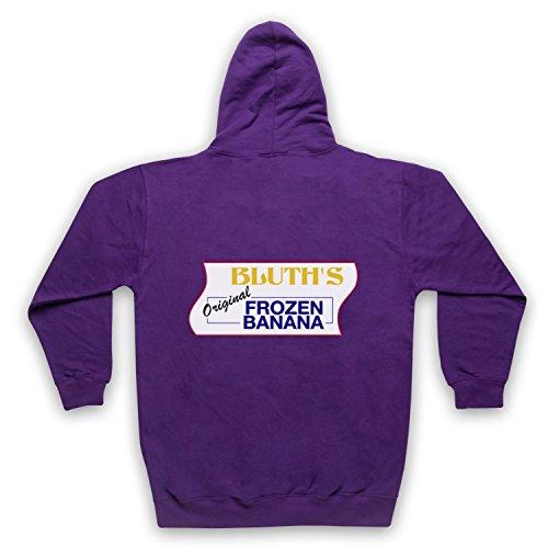 ested Development Bluth Banana Stand Unofficial Erwachsenen Kapuzensweater mit Rei§verschluss, Violett, 2XL (Erwachsene Banana Hoodie)
