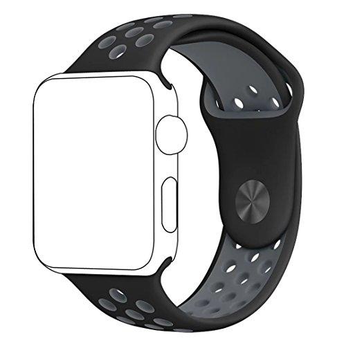 inteny Apple Watch Band Serie 1Serie 2, morbido Silicone Nike + Sport cinturino da polso sostitutivo per iWatch