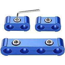 Separador - SODIAL(R)3pcs motor chispa plug cable separador divisor abrazadera kit por 8mm 9mm 10mm (azul)
