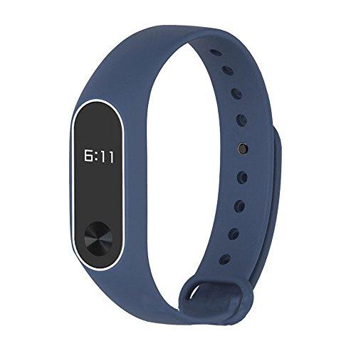 Xiaomi MI Band 2 Armband, Huihong 2017 Neue Silikon Doble-Farbe Spleiß Handgelenk Armband Ersatz Wristband Quickfit Wechselarmband Ersatzband für Xiaomi Mi Band 2 (No Watch) (A)