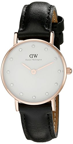 Daniel-Wellington-Classy-Sheffield-Womens-Quartz-Watch-with-White-Dial-Analogue-Display-and-Black-Leather-Strap-0901DW