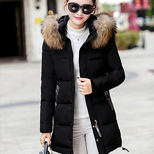 41t2P75Q8%2BL. SS500  - GUXIU Large Fur Collar Women'S Down Coat Winter Jacket Women Hooded Long Down Jacket For Women Winter Coat Female Parka