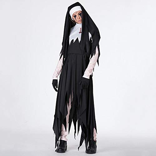 Shisky Cosplay kostüm Damen, Halloween Schwarze Dämon Kostüm Vampir Hexe Kleid Kleid