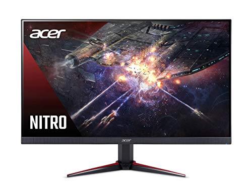 """Acer Nitro VG240Ybmiix Monitor Gaming FreeSync da 23.8"""", Display IPS Full HD (1920x1080), 75 Hz, Formato 16:9, Luminosità 250 cd/m², 1 ms (VRB), VGA, 2xHDMI, Audio In/Out, Speaker Integrati, Nero"""