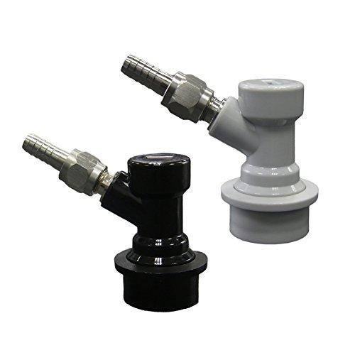 Ball Lock MFL dis-connect Set mit Drehgelenk Muttern (2) 5/16Gas, 1/4Liquid Stacheldraht von Pera (Ball Keg Tap)