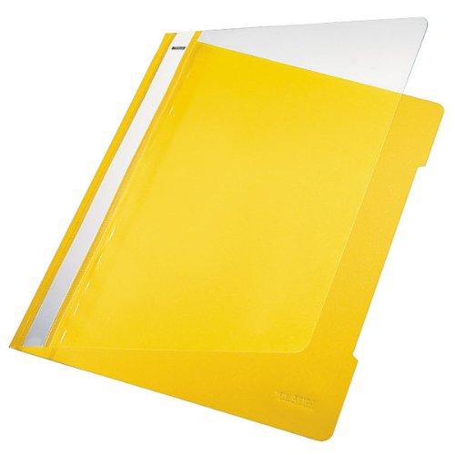 Esselte Leitz Hefter Standard, A4, langes Beschriftungsfeld, PVC, gelb
