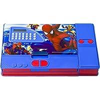 KIKU Vini Spider Man Printed Jumbo Gadget Pencil Box with Calculator (Multicolour)