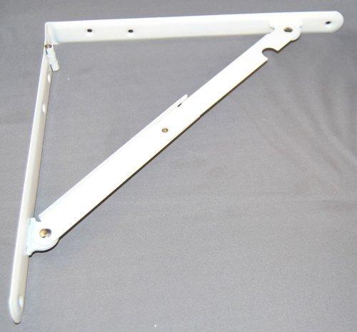 11035 12 X 12 Folding Shelf Bracket Wht by Ultra Hardware (Shelf Folding Hardware)