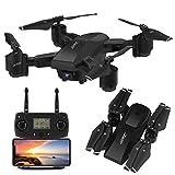 INKPOT GPS Drone JJRC H78G 5G WiFi FPV Rc Pliable avec caméra HD 1080P Quadricoptère vidéo en Direct RC avec Suivez-Moi, Retour Intelligent à la Maison, Drone en Mode Double Commande pour Adultes