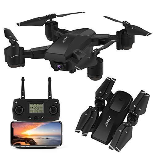JJRC GPS Drohne H78G 5G WiFi FPV Rc Faltbare Drohne mit 1080P HD Kamera Live Video RC Quadcopter mit Follow me, Smart Return Home, Dual Control Modus Faltbare Drohne für Erwachsene (Schwarz) -