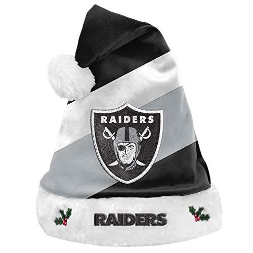 Foco NFL Oakland Raiders Basic Santa Claus Hat Weihnachtsmann Mütze