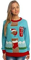 Candy Robin Christmas Jumper, Ladies & Mens, Novelty
