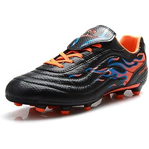 T.B fire75535Zapatillas de fútbol botas de fútbol Zapatillas de entrenamiento, negro/naranja, 5.0 UK