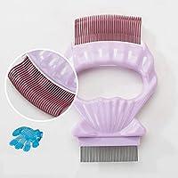XuBa - Cepillo de Limpieza para Mascotas 2 en 1 con Forma de Concha
