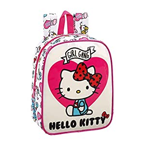 41t2SIxKoDL. SS300  - Hello Kitty Mochila guardería niño Adaptable Carro