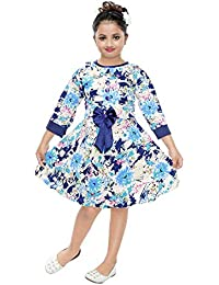 Bachcha Girls Net Casual Party Wear Regular Fit Cotton 3 4 Sleeve Frock Set 050bdba4e