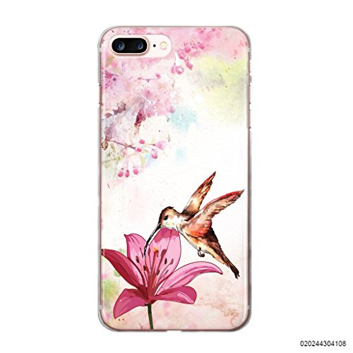 Blitz® Oiseau motifs housse de protection transparent TPE SAMSUNG Galaxy oiseaux verts M14 iPhone X Bird & Flower M12