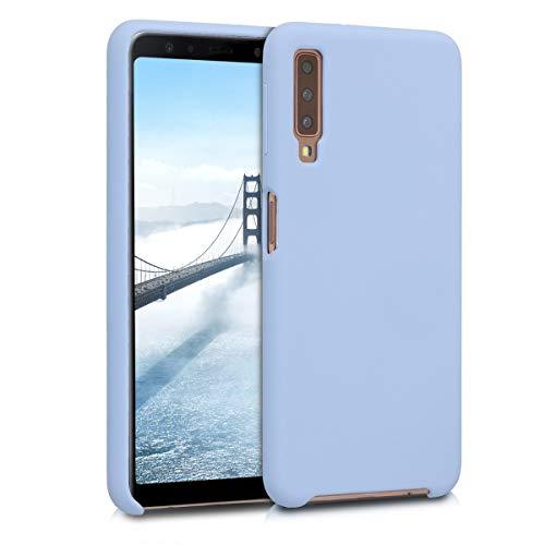 kwmobile Samsung Galaxy A7 (2018) Hülle - Handyhülle für Samsung Galaxy A7 (2018) - Handy Case in Hellblau matt