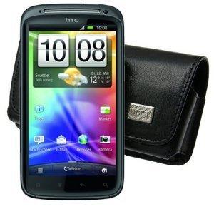 Original MTT ® Quertasche fuer / HTC Sensation / HTC Sensatin XE / Horizontal Tasche Ledertasche Handytasche Etui mit Clip und Sicherheitsschlaufe*