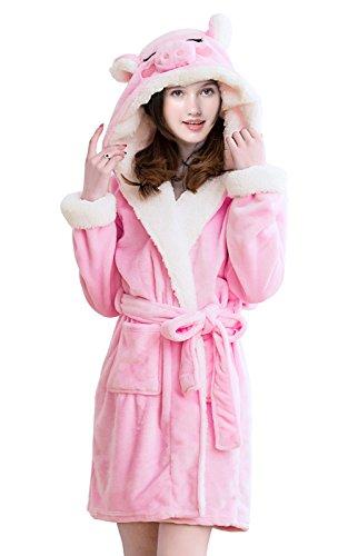 Erwachsene erwachsene einhorn robe mit kapuze bademantel ()