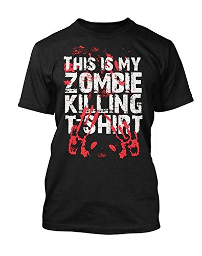 Sherbet Dip Premium Halloween This is my Zombie Killing T-Shirt blutigem Handabdruck Herren Schwarz Shirt. Alle Größen (S–5X L) Gr. L, Schwarz - Schwarz (Tee Handabdruck)